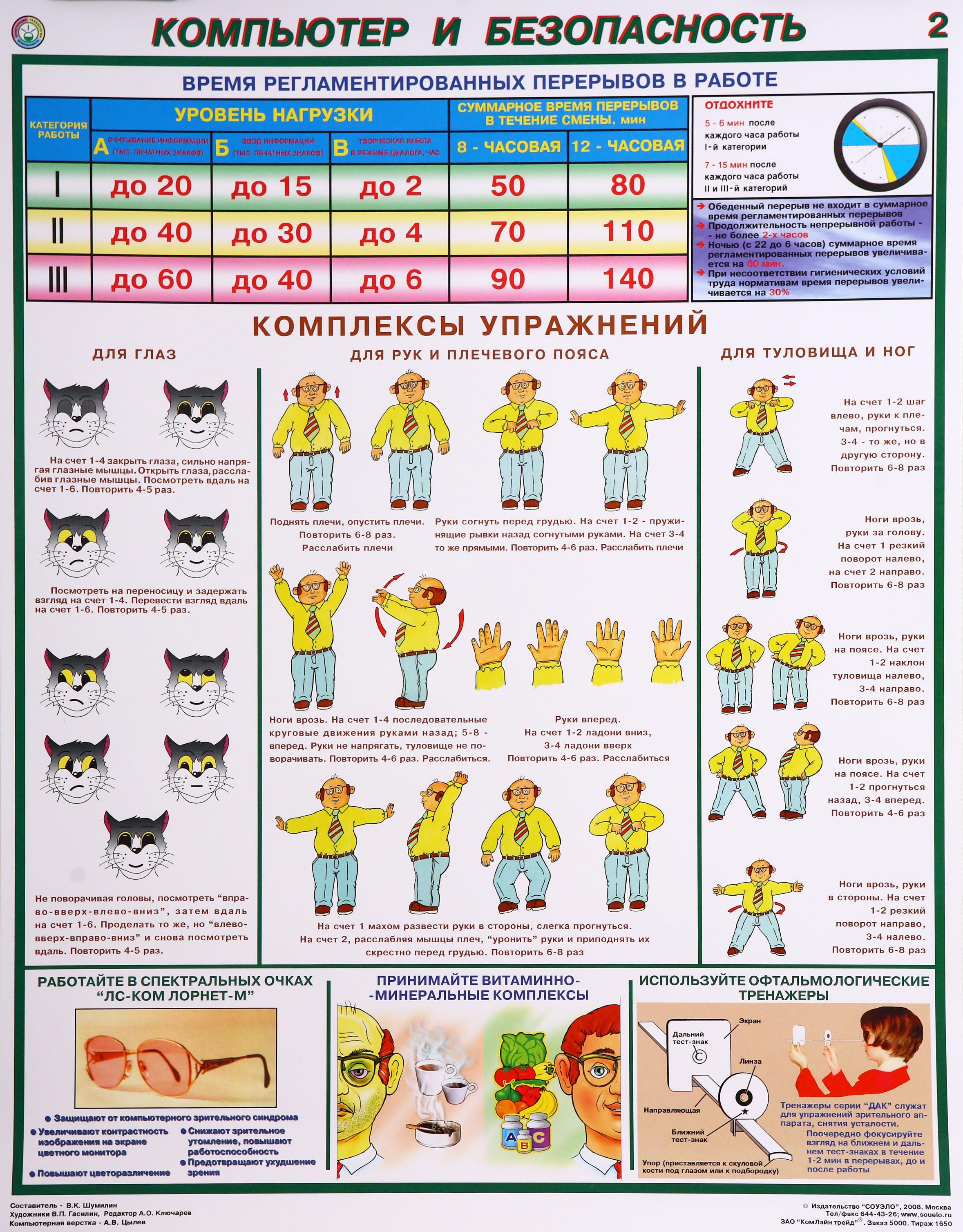 Плакаты по охране труда. Компьютер и безопасность